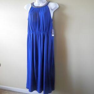 NWT Jennifer Lopez Electric Blue Maxi Dress